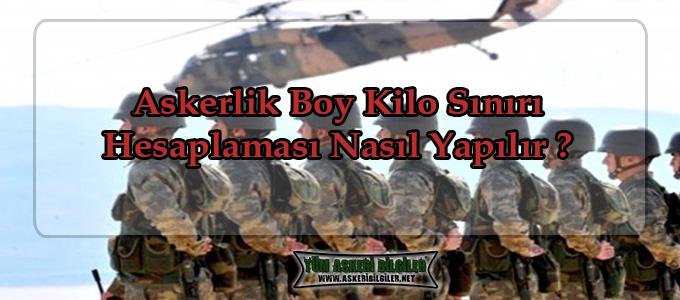 2018 Askerlik Boy Kilo Sınırı Hesaplaması