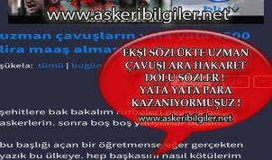 Ekşi Sözlük'te Uzman Çavuşlara Hakaret Dolu Sözler !