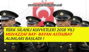 Türk Silahlı Kuvvetleri 2018 Yılı Muvazzaf Astsubay Alımları Başladı