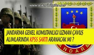 Jandarma Uzman Erbaş Alımlarında KPSS İstenecek Mi ?