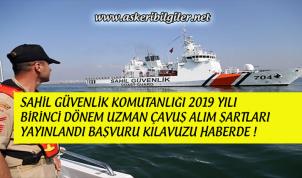 Sahil Güvenlik Komutanlığı 2019 Birinci Dönem Uzman Çavuş Alım Şartları