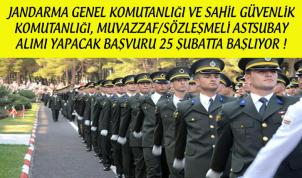 Jandarma ve Sahil Güvenlik Komutanlığı Muvazzaf/Sözleşmeli Astsubay Alımı