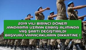 2019-1 Jandarma Uzman Erbaş Başvuru Yaş Şartı Değişti !