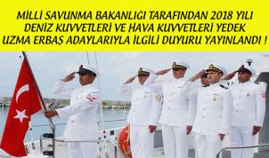 2018 Yılı Hava ve Deniz Kuvvetleri Uzman Erbaş Yedek Adaylarının Dikkatine !