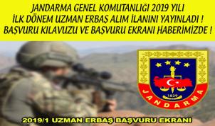 2019 Jandarma Uzman Erbaş Alımı Şartları ve Başvuru Linki !