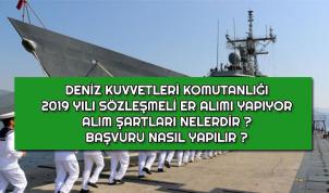 Deniz Kuvvetleri Komutanlığı 2019 Yılı Sözleşmeli Er Alımı Başladı !