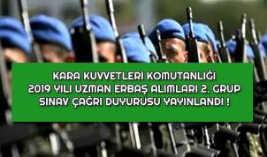 Kara Kuvvetleri 2019 Uzman Erbaş 2'nci Grup Sınav Tarihleri Belli Oldu !