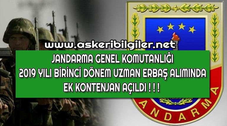 Jandarma 2019-1 Uzman Erbaş Ek Sınav Duyurusu Yayınladı !