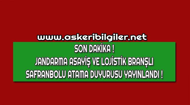 Jandarma Uzman Erbaş Atama Duyurusu Yayınlandı !