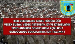 Kasım Dönemi Askerlik Yerleri ve Er, Erbaş, Yedek Astsubay ve Yedek Subay Sınıflandırma Sonuçları Açıklandı !