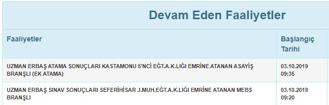 Jandarma Seferihisar ve Kastamonu Uzman Erbaş Atama Duyurusu Yayınlandı ! 1 – 1 34371