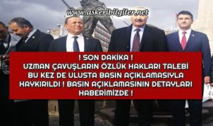 Uzman Çavuşlardan Özlük Hakkı Talebi ! Ulusta Basın Açıklaması Yapıldı !