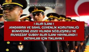 Jandarma ve Sahil Güvenlik Komutanlığı 2020 Yılı Kadın ve Erkek Subay Alım İlanı Yayınlandı !