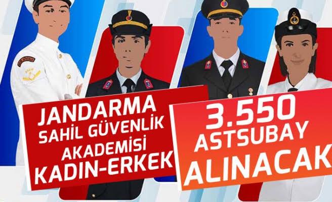 Jandarma ve Sahil Güvenlik Komutanlığı Sözleşmeli ve Muvazzaf Astsubay Alım İlanı Yayınlandı !
