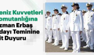2019 Deniz Kuvvetleri Uzman Erbaş Kontenjan Dışı Kalanların Hava Kuvvetlerine Yerleştirilmesi Duyurusu !
