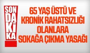 65 Üstü Olanlara Bu Geceden İtibaren Sokağa Çıkma Yasağı Getirildi !