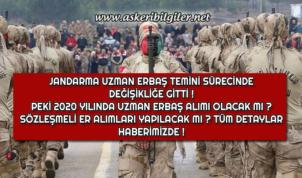 Jandarma Uzman Erbaş Temini Sürecinde Değişikliğe Gitti !