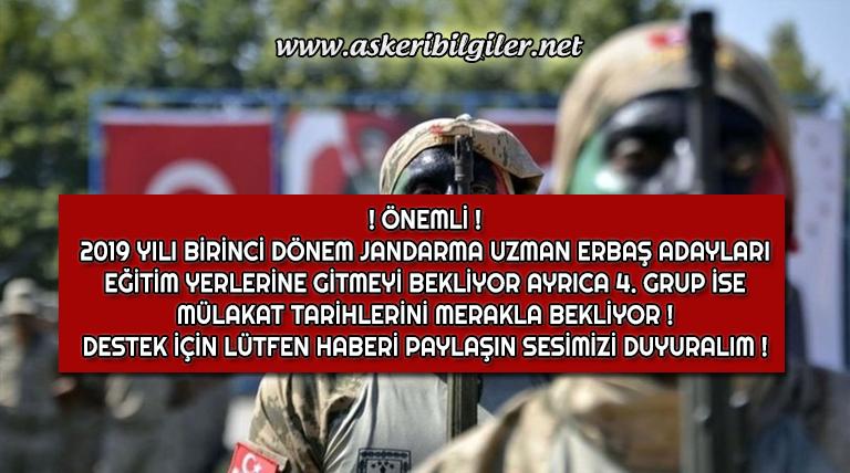 Jandarma Uzman Erbaş Adayları Eğitim ve Mülakat Tarihlerinin Açıklanmasını Bekliyor !