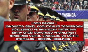 Jandarma Sözleşmeli ve Muvazzaf Astsubay Sınav Çağrı Duyurusunu da Yayınladı !
