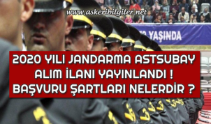 Jandarma Astsubay Alım İlanı Yayınlandı ! Başvuru Şartları Nelerdir ?