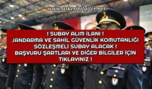 Jandarma ve Sahil Güvenlik Komutanlığı Sözleşmeli Subay Alacak ! Başvuru Şartları Nelerdir ?